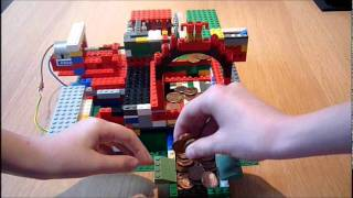 Lego Coin Pusher With Speed Reduction Gearbox