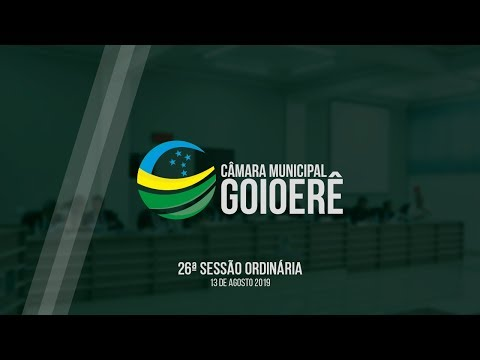 26ª Sessão Ordinárias - 2019