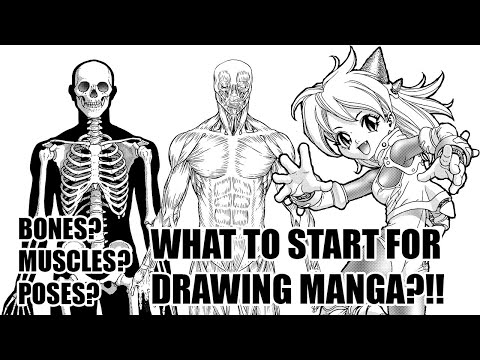 [Q&A] Want to draw cool poses in manga? What should you start first? Bones? Muscles? Or Poses?