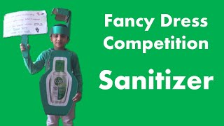 Prize Winning Fancy Dress Competition Ideas For Kids - Sanitizer - Corona Worrier