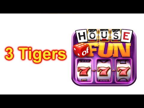 """HOUSE OF FUN Casino Slots Let's Play """"3 TIGERS"""" On Your Cell Phone"""