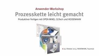 Produktiver Fertigen mit OPEN MIND, CGTech und HEIDENHAIN