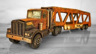 Restoration Tonka Kenworth Car Carrier 1983s - Toy Truck very Rusty