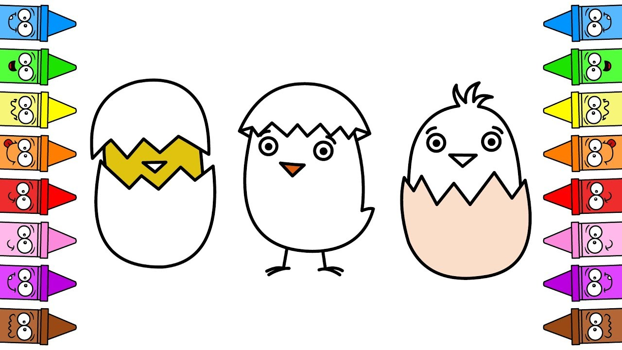 cartoon chicken drawing baby chicken drawing easter drawing ideas