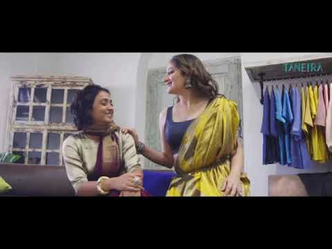 Anchor Emcee Actor Gitikka Ganju Dhar in an advertisement for TANIERA Sarees.