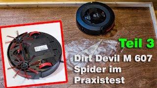 Teil 3-Saugroboter Dirt Devil M607 Spider Test