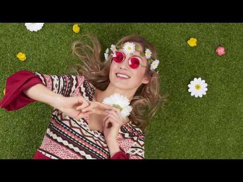 Costume di Carnevale da donna hippie