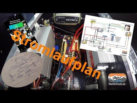 Stromversorgung Minicamper Zusatzbatterie Ladebooster Trennrelais Ladegerät Wechselrichter DIY 230V