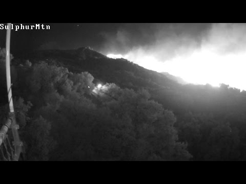 Thomas Fire in Santa Paula, courtesy WD6EBY/PVARC