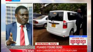 Studio Interview with lawyer Nelson Havi: The death of IEBC ICT Director Chris Msando