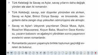 Eğitim Vadisi AYT Edebiyat 25.Föy Cumhuriyet Döneminde Roman 2 Konu Anlatım Videoları