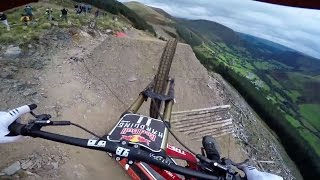 Dan Atherton Sends It Down the Hardline MTB Track | Red Bull Hardline: GoPro View