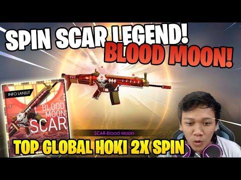 HOKI LAGI! SKIN LEGEND PERMANEN 2X SPIN SCAR BLOOD MOON! - Garena Free Fire