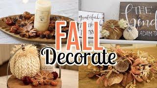 DECORATE FOR FALL WITH ME ! FALL DECOR IDEAS | Tara Henderson