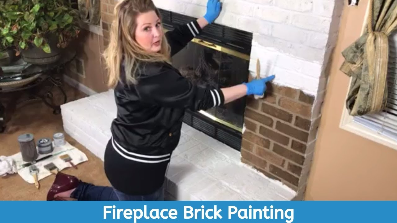 Got a brick fireplace you'd like to REDO? SEE This Video for How to Update using ALL-IN-ONE Paint!