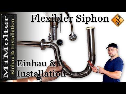 Flexibler Siphon - Wie wird er richtig installiert? Von M1Molter