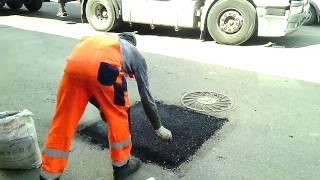 Новый метод ремонта асфальта