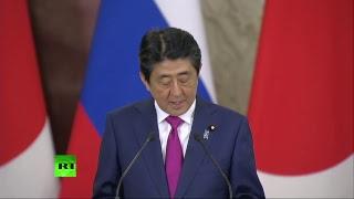 Пресс-конференция Владимира Путина и Синдзо Абэ