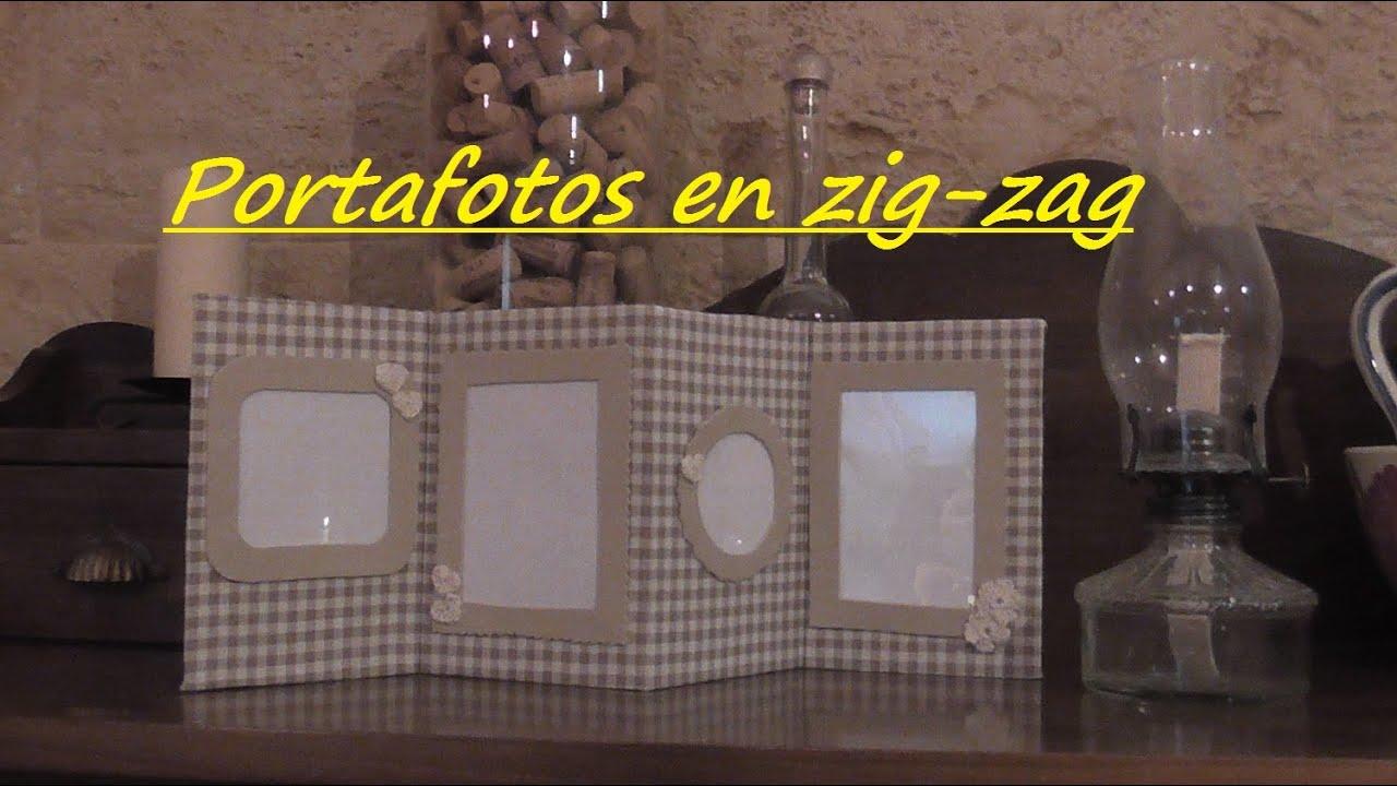 Portafotos zig zag