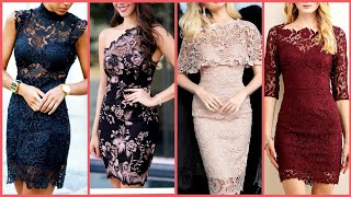 Most Desirable And Unique Designs Of Lace Dresses Designes Ideas For Women