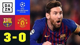 Lionel Messi Zaubert Und Trifft Doppelt: Barcelona - Manchester United 3:0   Champions League   DAZN