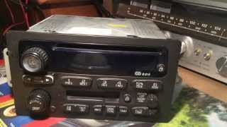 2000 to 2005 Class II GM RDS Radio Unlocking PRECAUTIONARY