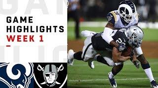 Rams vs. Raiders Week 1 Highlights | NFL 2018