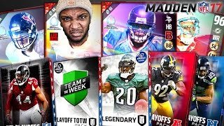 HUGE CLUTCH PULL! 4 NEW LEGENDS! MUT 17 PACK OPENING |  Madden 17 Ultimate Team