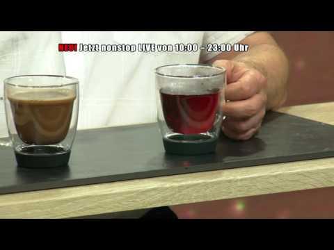 Doppelwandige Tasse für Kaffee, Tee und Co., 2er-Set
