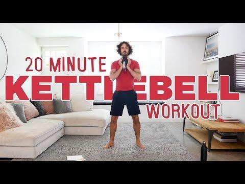 20 minutter hjemmetrening med Kettlebell