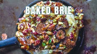 Baked Brie With Jam And Nuts In 15 Minutes | The Mediterranean Dish