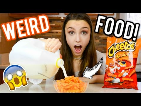 Testing WEIRD Food Trends! Strange Food Combinations!
