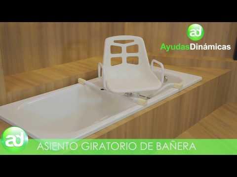 Asiento giratorio de bañera - Ayudas Dinámicas