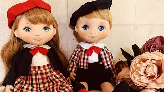 TUTORIAL Doll : Making Cloth Dolls / How To Make Doll Clothes /couple Doll