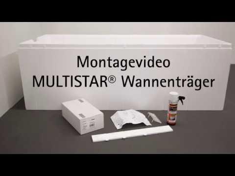 MULTISTAR® Wannenträger Montagefilm