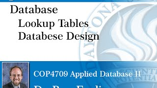 Database - Lookup Tables