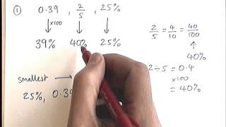 How to - order fractions, decimals and percentages