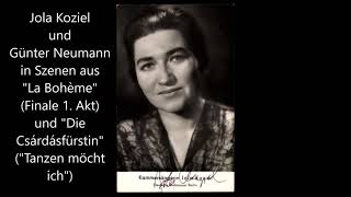 Günter Neumann singt zwei Duette mit Jola Koziel (Bohème, Csárdásfürstin)