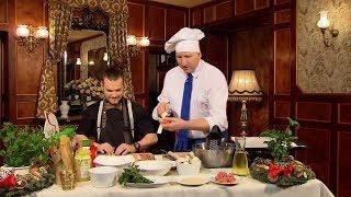 Rączka gotuje - szparagi w cieście, faszerowane pieczarki i strudel z jabłkami