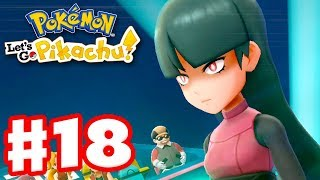 Gym Leader Sabrina! - Pokemon Let's Go Pikachu and Eevee - Gameplay Walkthrough Part 18