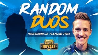 Random Duos - Protectors Of Pleasant Park! - Fortnite Battle Royale Gameplay - Ninja