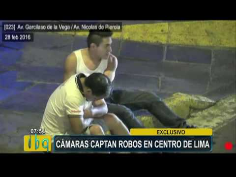 Cámaras captan violentos asaltos en el centro de Lima