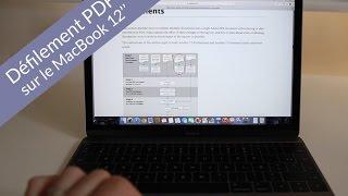 """Défilement PDF Sur Un MacBook 12"""" Retina (2015)"""