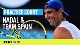 Nadal & Team Spain Practice   ATP CUP