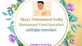 Shayx Muhammad Sodiq Muhammad Yusuf Hazratlari Ayollar Haqida Aytilgan Ma'ruzalari