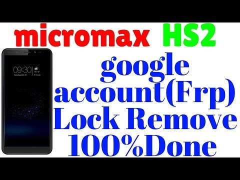 How to micromax HS2 google account (frp) lock remove 1000%Done