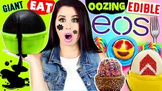 DIY Black Liquid-Filled Edible EOS | Jelly Cake EOS | Raindrop Cake Emoji EOS!