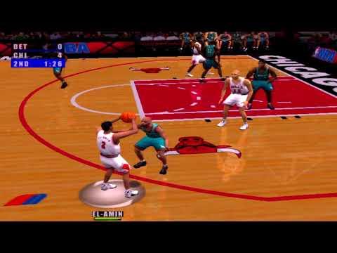 NBA Live 2001 Gameplay Chicago Bulls vs Detroit Pistons