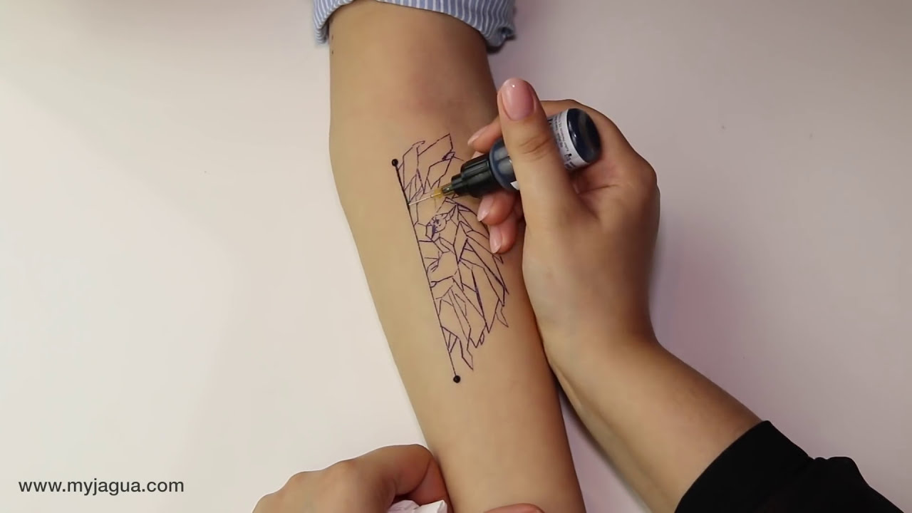 tattoo lion abstract tutorial by my henna