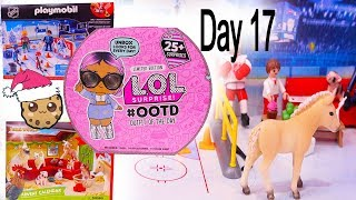 Day 17 ! LOL Surprise - Playmobil - Schleich Animals Christmas Advent Calendar - Cookie Swirl C